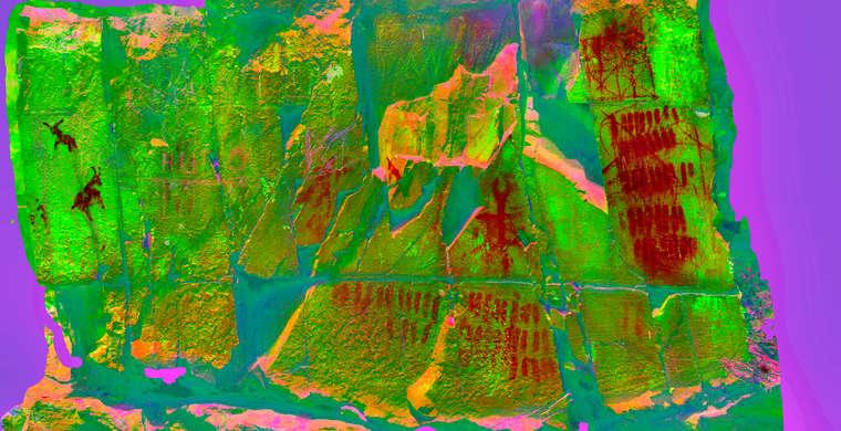 Ortoimagen Majadilla de las Torres I, panel 1. Tratamiento DStretch cb flt crgb15 hs6