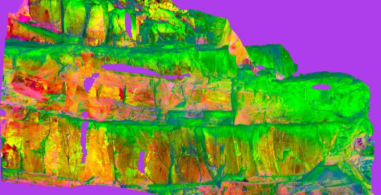 Ortoimagen Majadilla de las Torres I, panel 5. Tratamiento DStretch crgb20 hs19