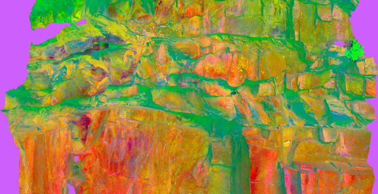 Ortoimagen Majadilla de las Torres I, panel 6. Tratamiento DStretch crgb15 hs10