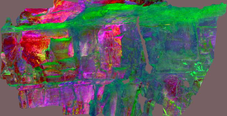 Ortoimagen Majadilla de las Torres I, panel 10. Tratamiento DStretch crgb10_hs45