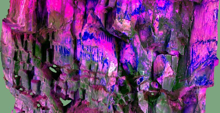 Ortoimagen Majadilla de las Torres I, panel 11. Tratamiento DStretch lds15_hs262