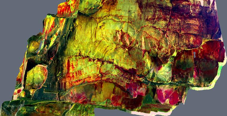 Ortoimagen Majadilla de las Torres I, panel 12. Tratamiento DStretch lds125_hs6