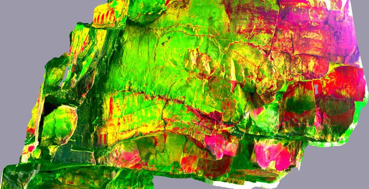 Ortoimagen Majadilla de las Torres I, panel 12. Tratamiento DStretch yea125_hs29_tc10667g59