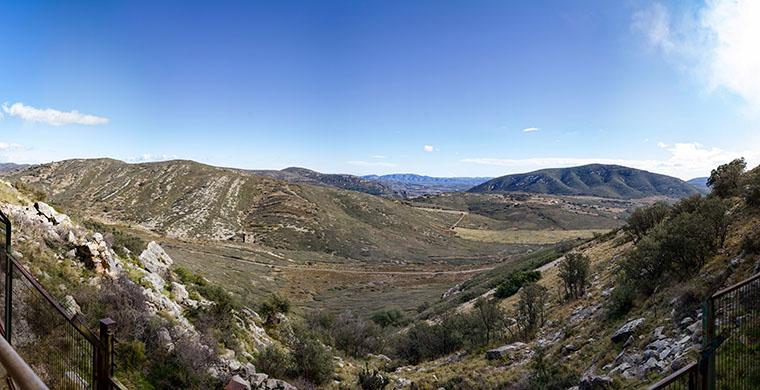 Landscape view from Cova Centelles