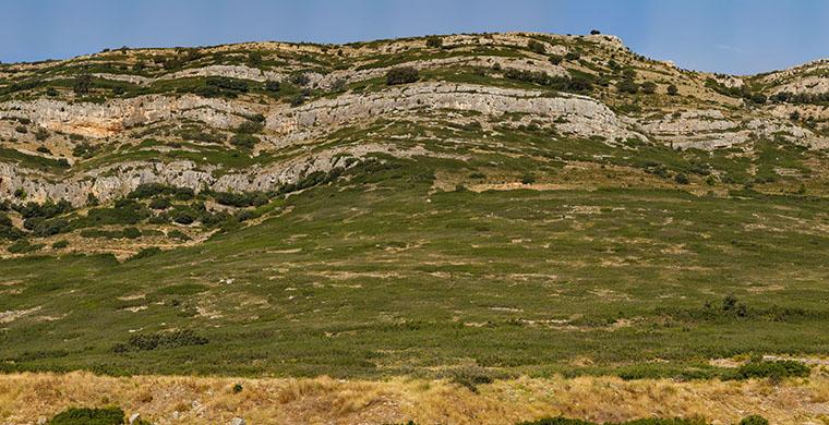 Landscape where Cova Centelles is located.