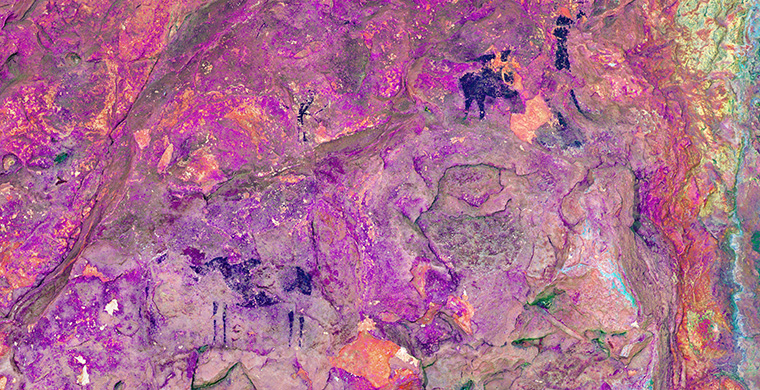 Sector 1 of Coves del Civil, false color.