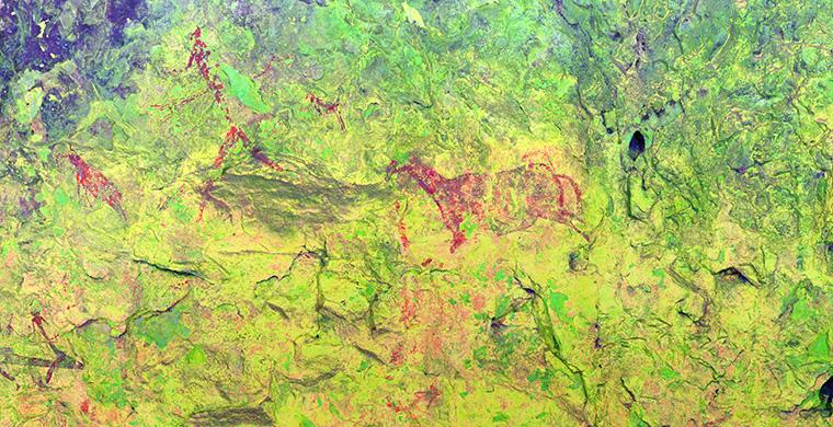 Sector 4 of Coves del Civil, false color.