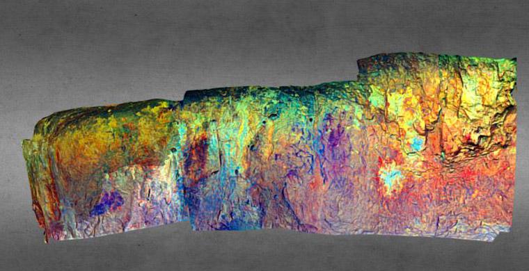 3D model of sector 3 of Coves del Civil, false color.