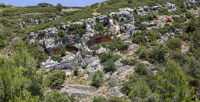 Landscape where is located Coves del Civil.