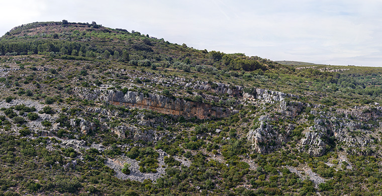 Landscape view of Cova Alta del Lledoner.
