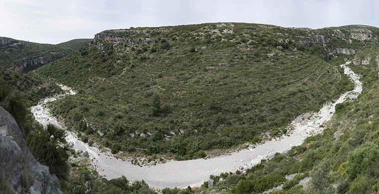 Landscape view from Cova Alta del Lledoner.
