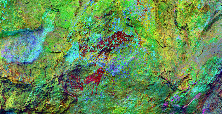 Right hand area of Mas d'en Josep, false color.
