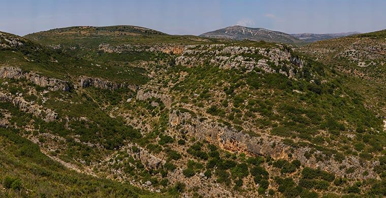 Landscape of Cingle dels Tolls del Puntal.