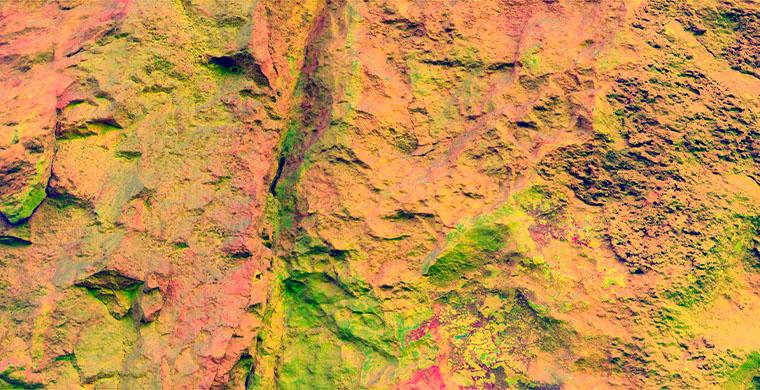 Right hand panel of Cingle dels Tolls del Puntal, false color.